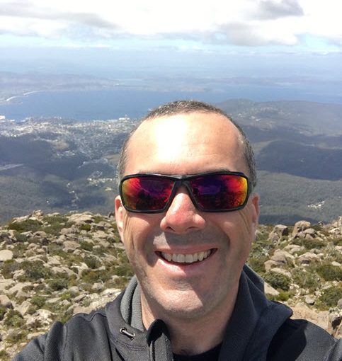 Selfie from Mount Wellington