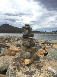 My 11-level cairn - Arthurs Lake, Tasmania