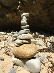 My 9-layer cairn, Remarkable Cave