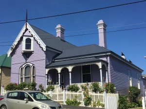 Purple house, Battery Point, Hobart